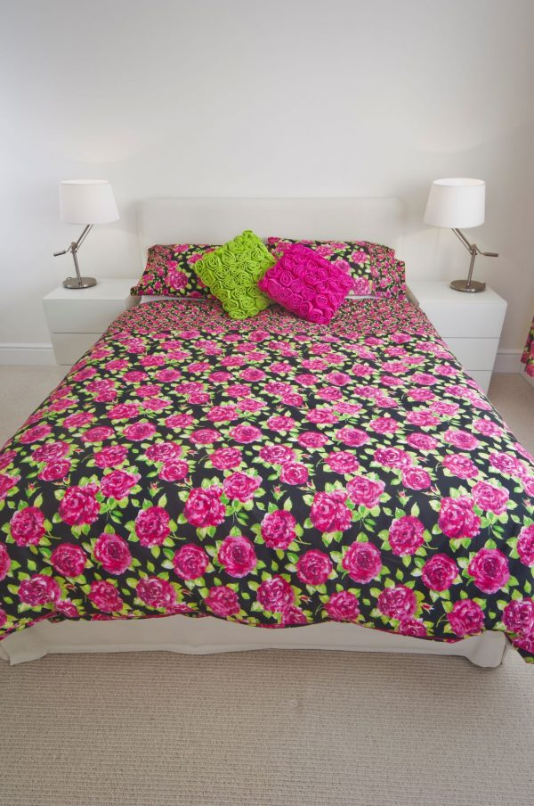 single duvet set black