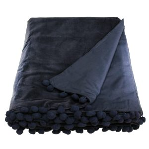 black velvet throw