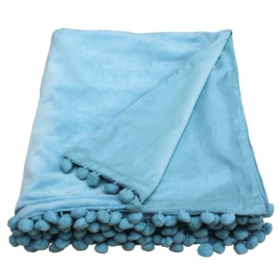 duck egg velvet throw