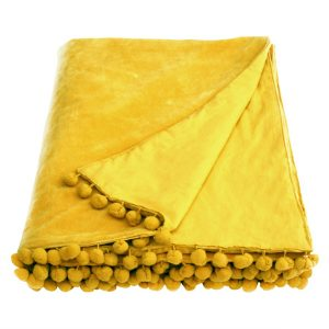 gold velvet throw