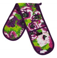 purple double oven gloves