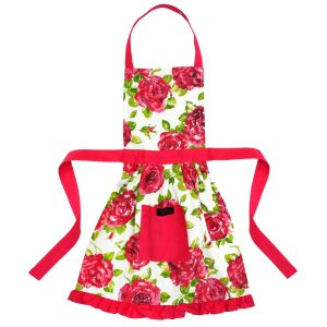 Childs Pink frilly Apron