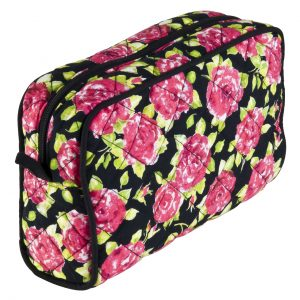 black rose make up bag