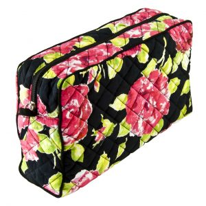 Wash Bag Black Rose