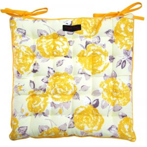Golden Rose Seat Pad Cushion