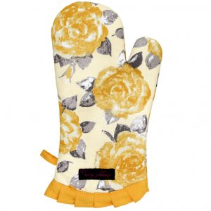 Fliss Frilly Oven Glove Gold Rose