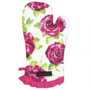 Frilly Oven Glove Pink Rose