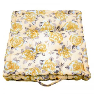 gold rose garden cushion
