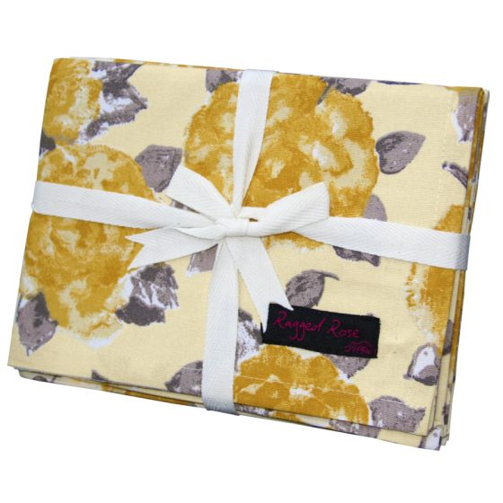 Tracy Gold Floral Tea Towels Pack of Two