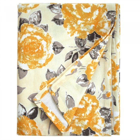 Tessa Tablecloth Golden Yellow Rose