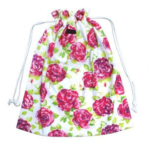 Pink Floral Laundry Bag