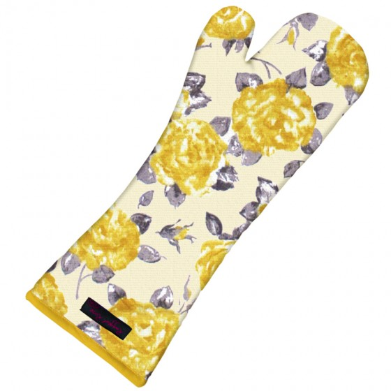 Oven Glove Gold Rose
