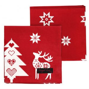 Red Christmas Star Napkins