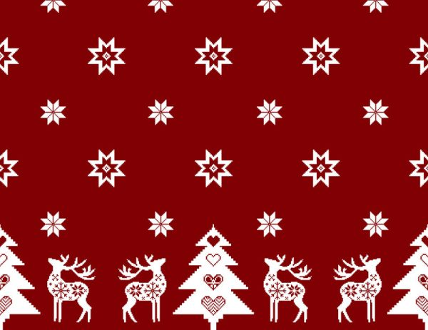 red Christmas reindeer material