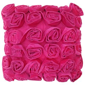 Ruffle Rose Cushion Pink