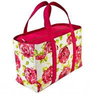 Tote Bag White Pink Rose