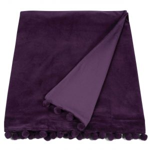 aubergine velvet throw