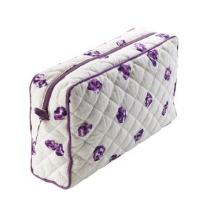 Purple Wash Bag in a Petal Print