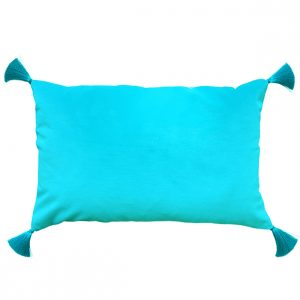 Turquoise Blue Velvet Cushion