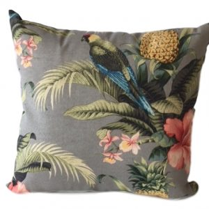 Showerproof Tropical birds Garden Cushion