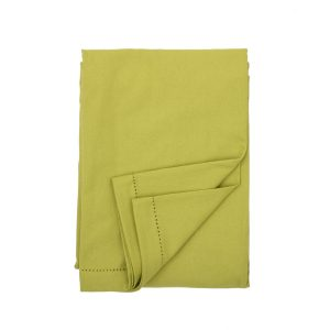 plain lime cotton tablecloth