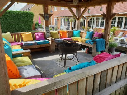 sarah's summerhouse garden cushions