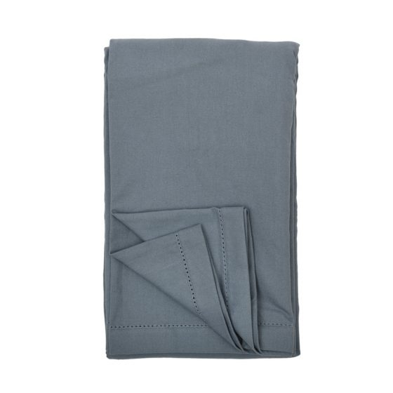 Plain grey cotton Tablecloth