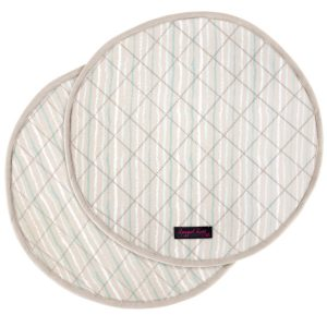Duck Egg Blue Stripe AGA Cooker Mats