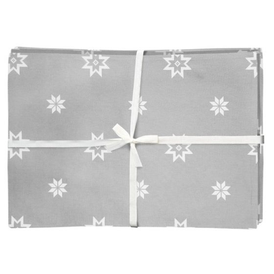silver grey Christmas star placemats