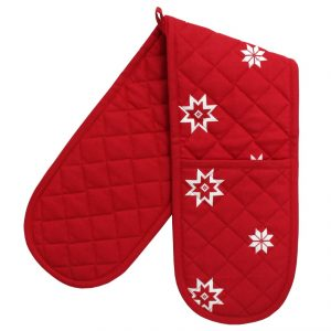 red christmas oven gloves