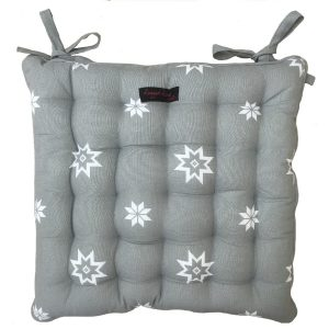 Christmas Grey Star Seat Pad
