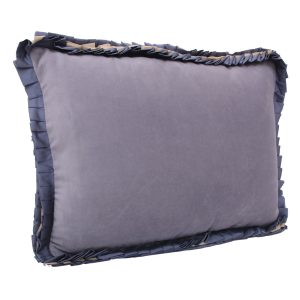 Ribbon Grey Velvet Cushion