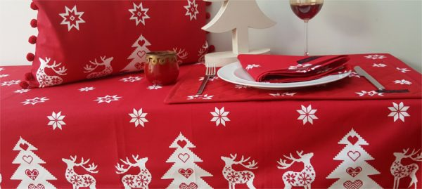 Tessa red christmas Tablecloth