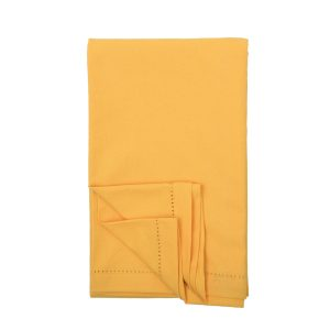 plain gold cotton tablecloth
