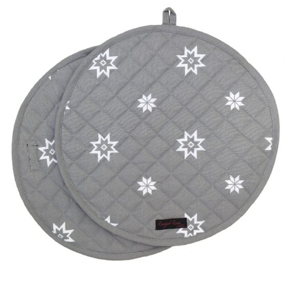 May Christmas Grey Aga Mat Covers