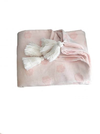 rose pink throw