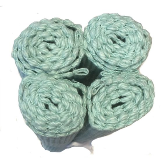 ribby duck egg blue placemats pack of 4
