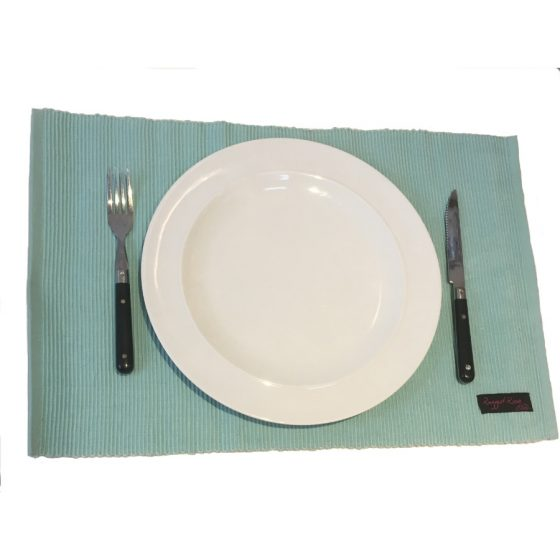 duck egg blue placemats
