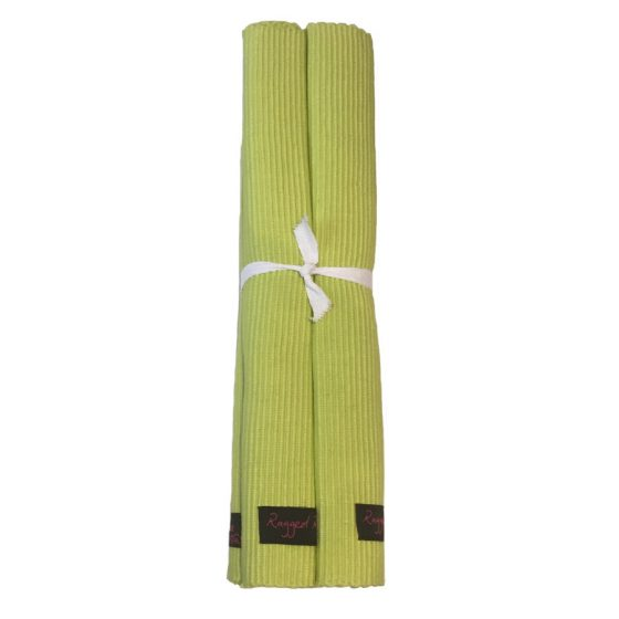 lime green placemats