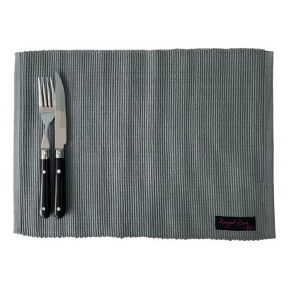 grey placemats