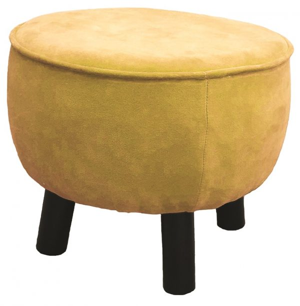 Gold Velvet Foot Stool