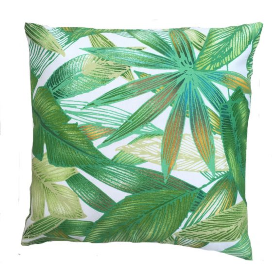 Botanical Leaves Showerproof Outdoor Garden Cushion