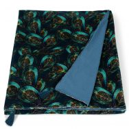 Peacock Velvet Throw