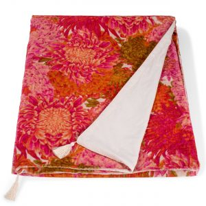 Chrysanthemum Velvet Throw