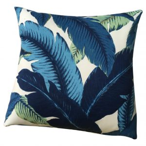 blue palms showerproof outdoor garden cushion