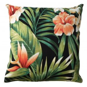 Bali Flowers Showerproof Outdoor Garden Cushion