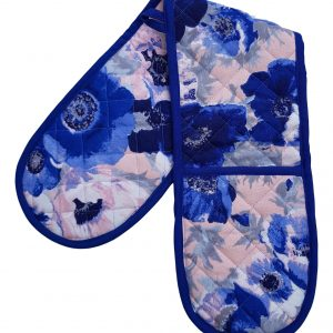 Blue Anemones Double Oven Glove