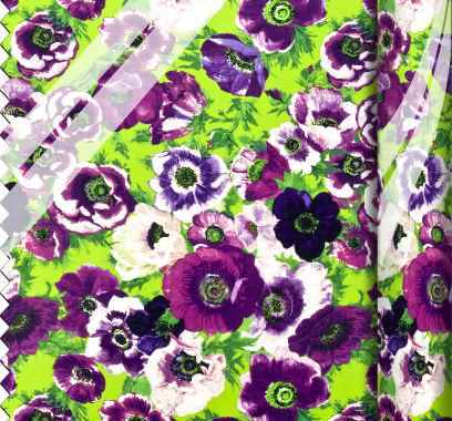 PVC Large Ragged Rose Print purple