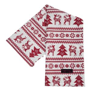 reindeer Christmas tea towels
