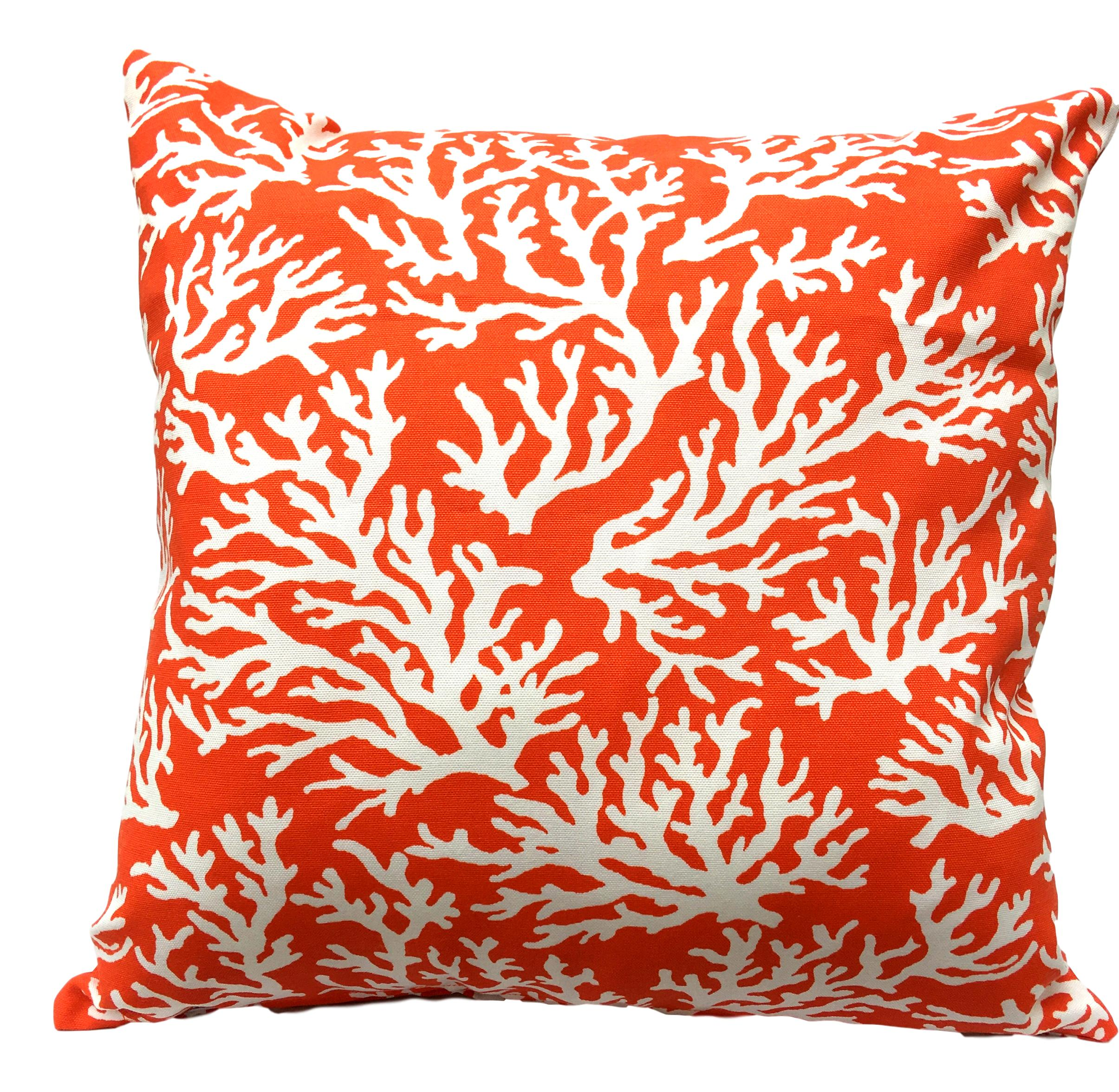 orange showerproof cushion